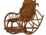 08065-4 Кресло-качалка (с элементами дерева)
