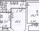 2-комнатная квартира, 54 кв.м., 3 из 9 этаж, вторичка
